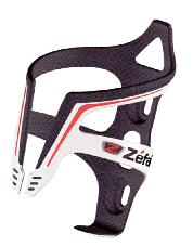 BOTTLE CAGE ZEFAL CARBON 30g BLACK/RD/WH