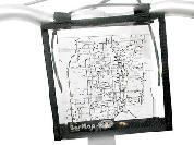 MAP CASE H-BAR MNT 6X6in DBL