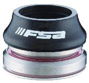 HEADSET FSA INT ORBIT C40 1-1/8-1.5 BLACK ALY TOP COVER