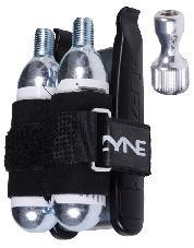 PUMP LEZ Co2 TWIN DRIVE KIT INC 2 16G CART-2 LEVERS-6 PATCHES-SCUFFER-TIRE BOOT